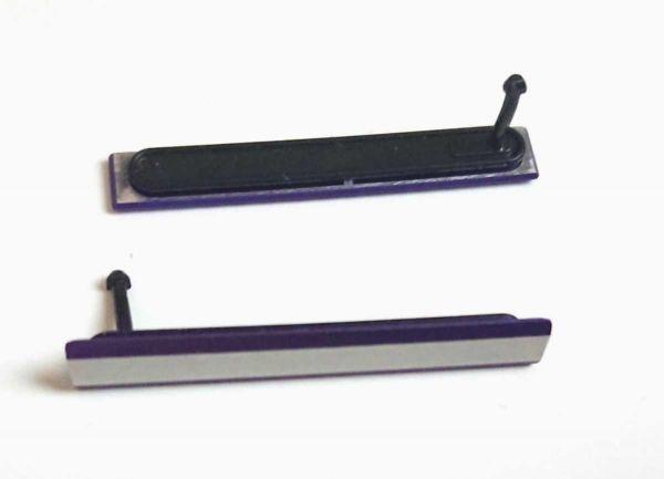 送料無料 xperia z2 紫 SIM側 充電キャップ so-03f microSIM側 microUSB側 パープル