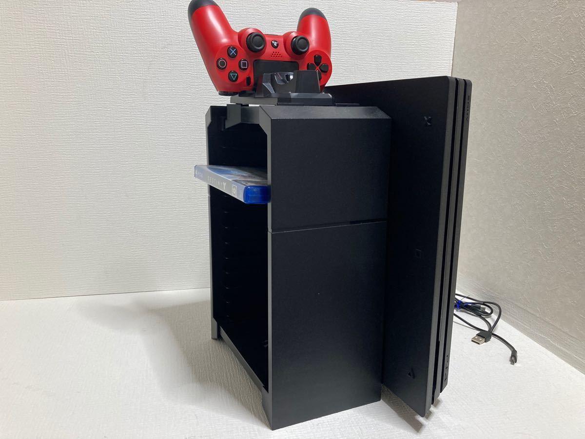 PS4 Pro ジェット・ブラック 2TB  CUH-7000B 縦置きスタンド付き