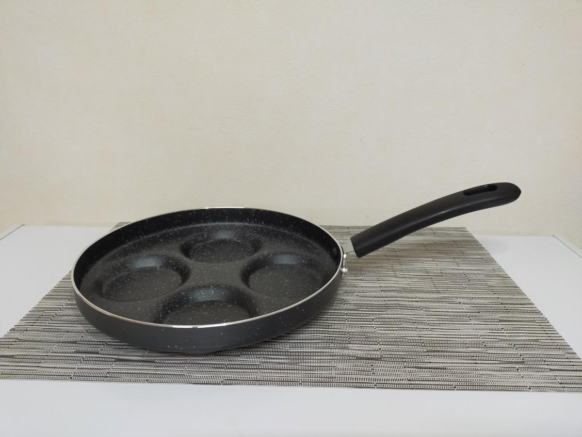 ガス火専用 四食フライパン 4穴目玉焼きフライパン24cm