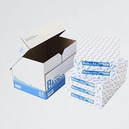 新品 未使用 A4 コピ-用紙 H-7Q 2500枚(500×5) ブランコ ホワイトコピ-用紙 高白色 紙厚0.09mm_画像1