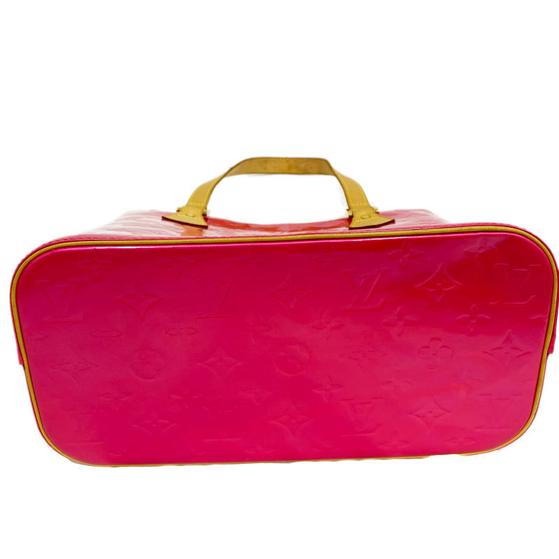 Louis Vuitton ルイヴィトン ヒューストン ヴェルニ M91219 フューシャピンク 中古AB【辻屋質店B1039】_画像3
