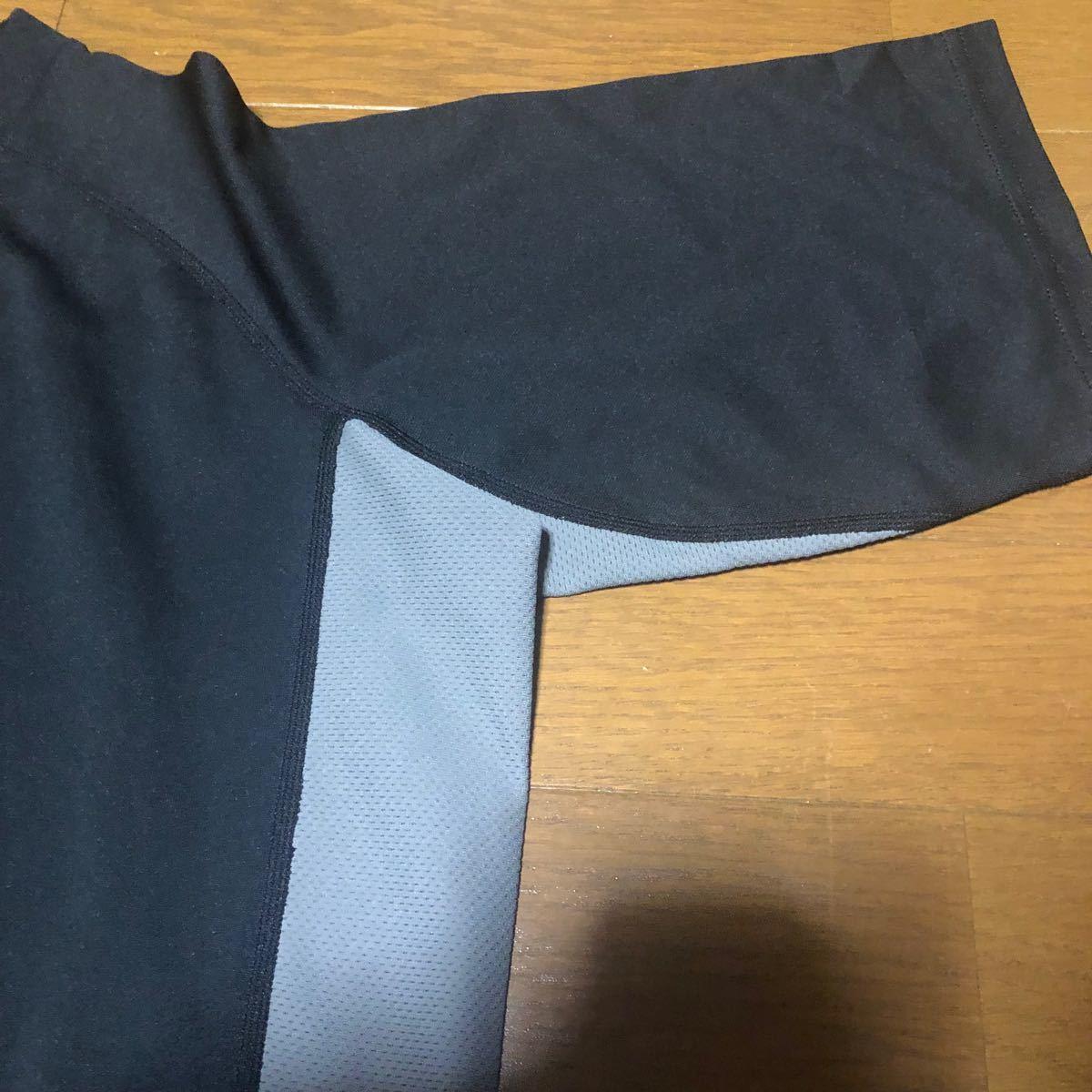 ★NIKE/ナイキ/刺繍/ラグラン/ワンポイント/ロゴ/切り替え/dryfit/ドライフィット/黒/シンプル/半袖/tシャツ