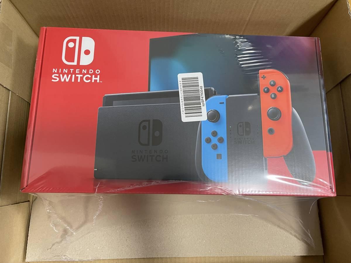 【新品・送料無料】Nintendo Switch 任天堂 ニンテンドースイッチ本体 Joy-Con(L)ネオンブルー(R)ネオンレッド バッテリー拡張版 新モデル _画像1