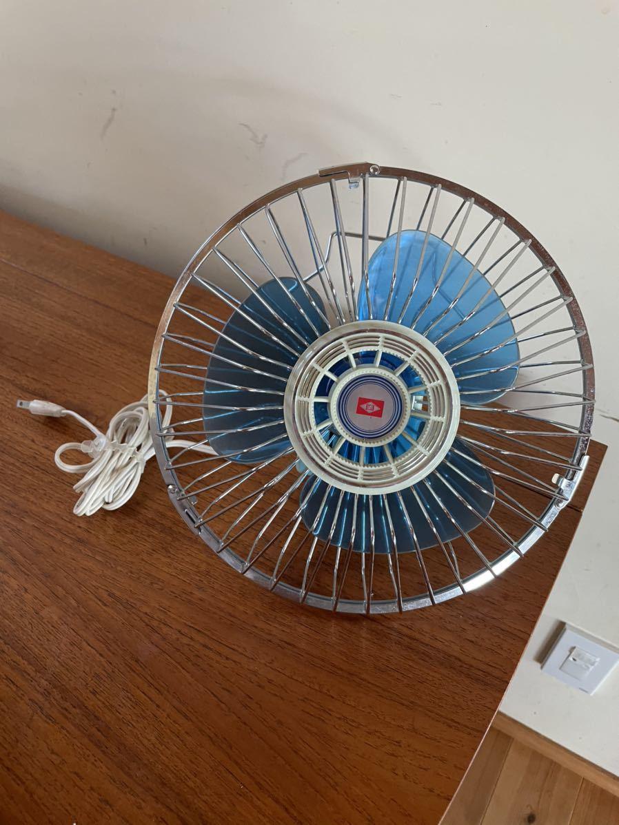 【昭和レトロ家電】ライト扇風機 動作確認済み 径27cm 日栄電気産業 スタンド無しサーキュレーター アンティーク 天井扇風機_画像1