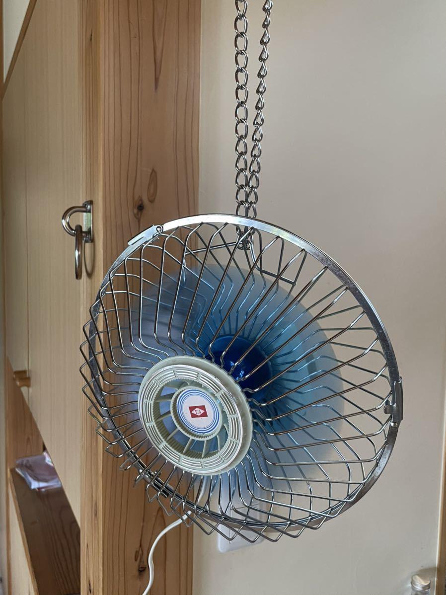 【昭和レトロ家電】ライト扇風機 動作確認済み 径27cm 日栄電気産業 スタンド無しサーキュレーター アンティーク 天井扇風機_画像4