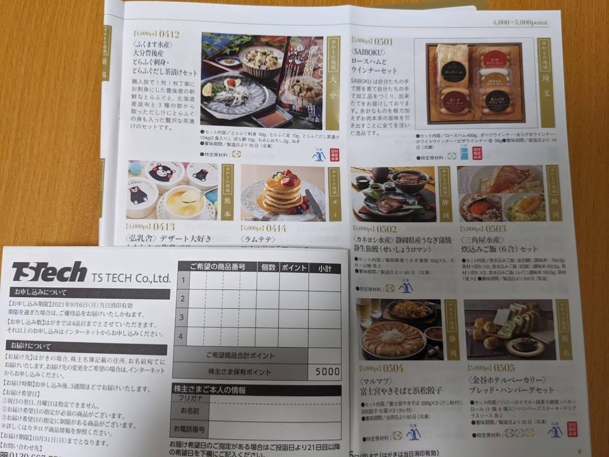 【送料無料】テイ・エステック株主優待 カタログギフト5,000円分_画像1