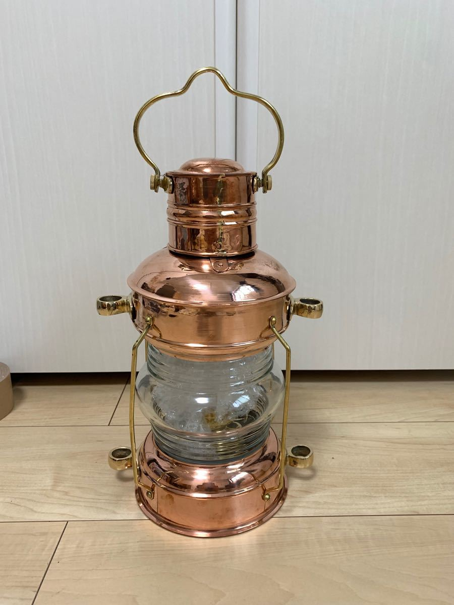 新品 Brass & Copper アンカーオイルランタン マリンランプ