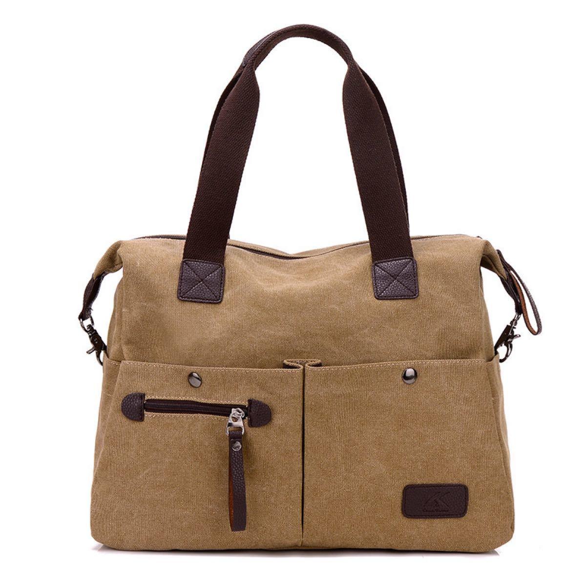 トートバッグ 3way A4 通勤 通学 大容量 ママバック ショルダーバッグ  帆布トートバッグ  キャンバスバッグ