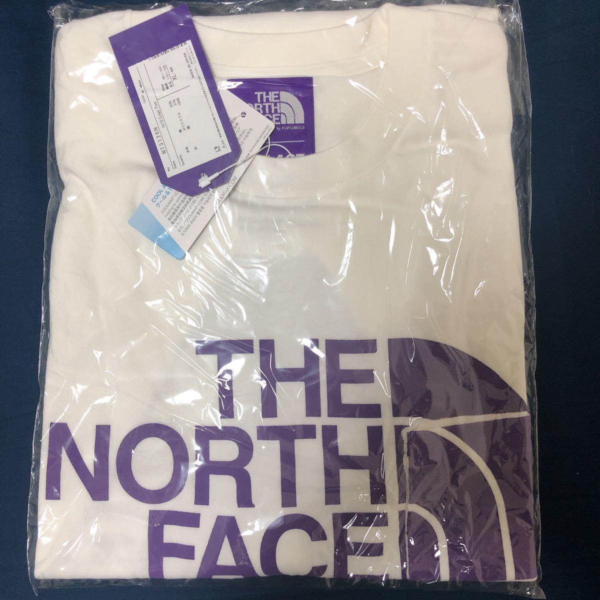 XLサイズ THE NORTH FACE PURPLE LABEL x PALACE SKATEBOARDS H/S Logo Tee White パレス ノースフェイス Tシャツ supreme_画像2