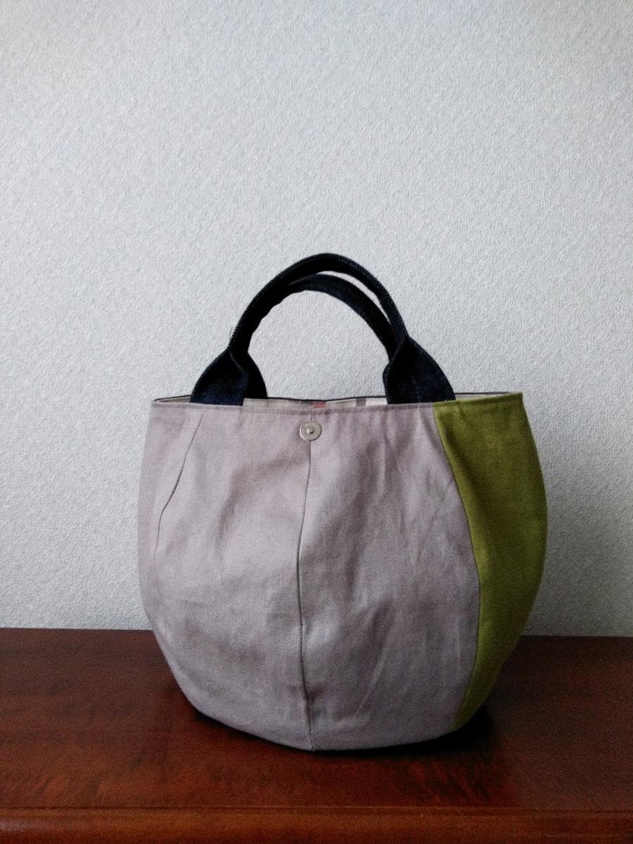 【ハンドメイド】 ころりんバッグ 丸底トートバッグ 中サイズ