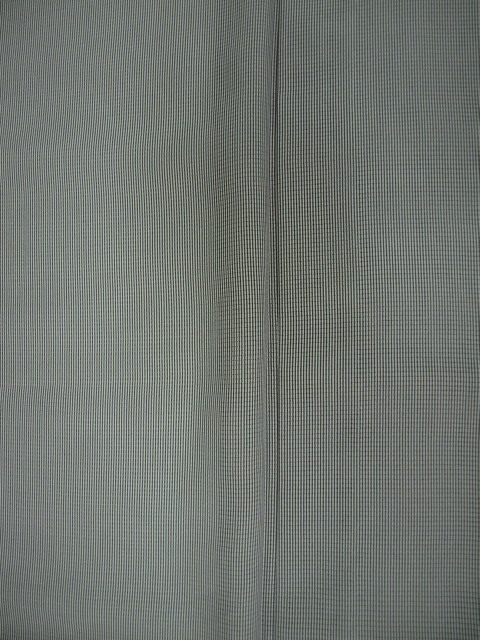 新品 1689 夏着物 大幅値下げ 正絹お仕立て上がり江戸絽小紋 万筋 江戸鼠系_画像5