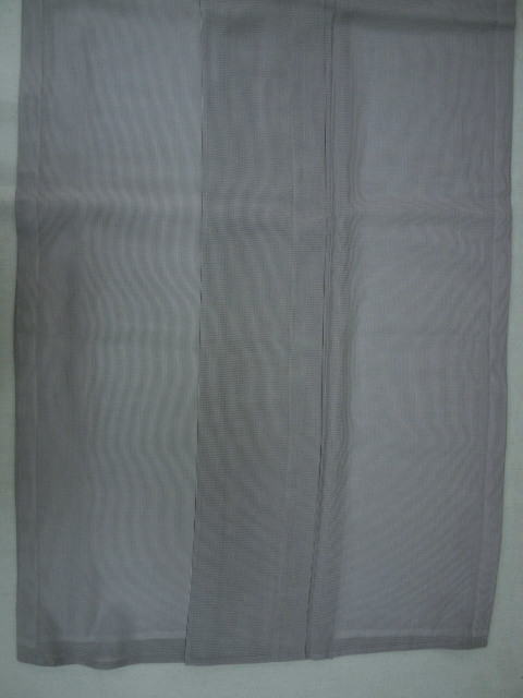 新品 1689 夏着物 大幅値下げ 正絹お仕立て上がり江戸絽小紋 万筋 江戸鼠系_画像4