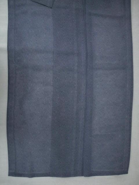 新品 1693 夏着物 大幅値下げ 正絹お仕立て上がり江戸絽小紋 鮫小紋柄 青系_画像4