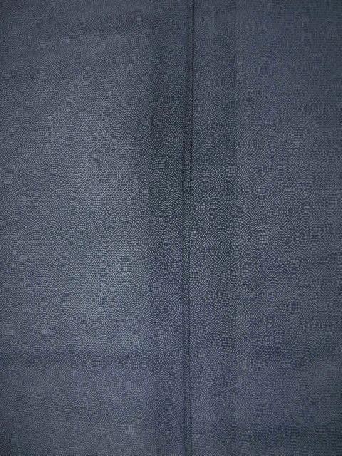 新品 1693 夏着物 大幅値下げ 正絹お仕立て上がり江戸絽小紋 鮫小紋柄 青系_画像6