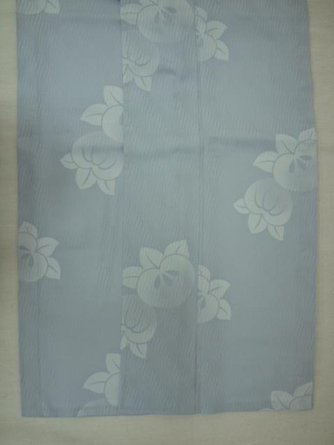 新品 1498 夏着物 大幅値下げ お仕立て上がり 正絹紗小紋 ブルーグレー 橘 _画像4