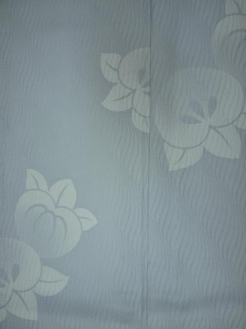 新品 1498 夏着物 大幅値下げ お仕立て上がり 正絹紗小紋 ブルーグレー 橘 _画像5
