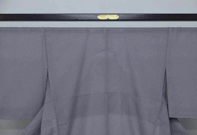 新品 1698 夏着物 大幅値下げ正絹お仕立て上がり江戸絽小紋 行儀柄 濃色系_画像2