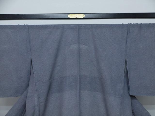 新品 1693 夏着物 大幅値下げ 正絹お仕立て上がり江戸絽小紋 鮫小紋柄 青系_画像2
