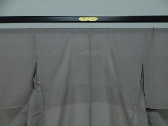 新品 1689 夏着物 大幅値下げ 正絹お仕立て上がり江戸絽小紋 万筋 江戸鼠系_画像2