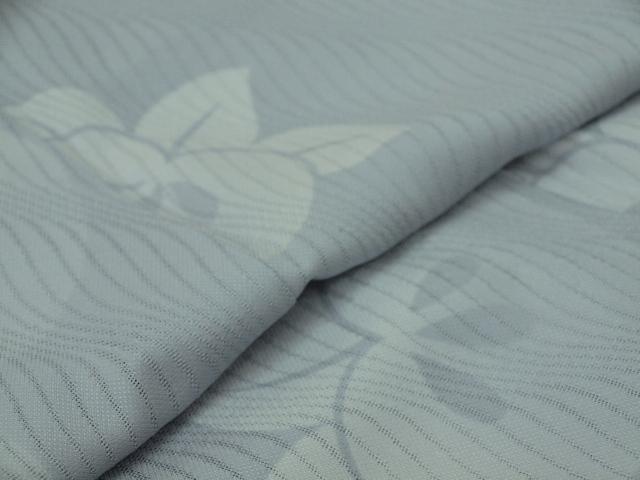 新品 1498 夏着物 大幅値下げ お仕立て上がり 正絹紗小紋 ブルーグレー 橘 _画像6