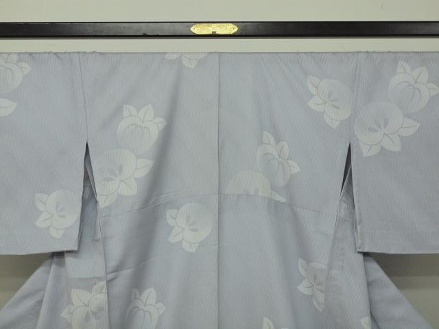 新品 1498 夏着物 大幅値下げ お仕立て上がり 正絹紗小紋 ブルーグレー 橘 _画像2