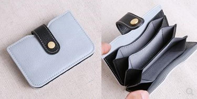 カード入れ コインケース財布 透明 レザークラフトアクリル型