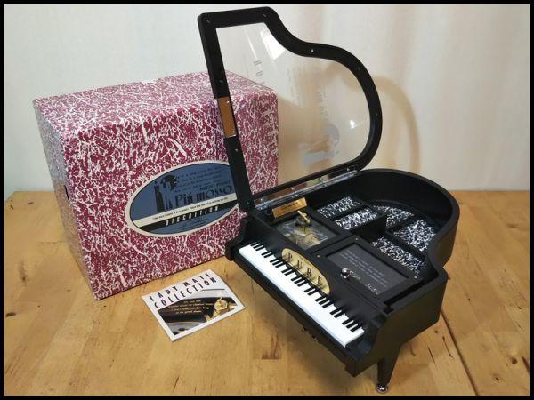 グランド ピアノ 楽器 型 アクセサリー ジュエリー ボックス 宝石箱 オルゴール 機能 箱 付き 未使用 保管品 アンティーク インテリア 飾り_画像9