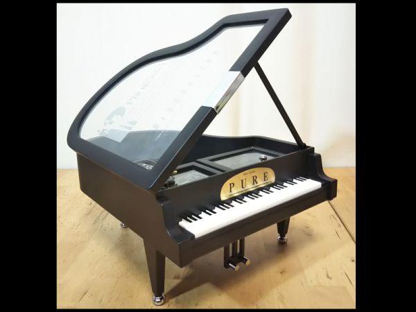 グランド ピアノ 楽器 型 アクセサリー ジュエリー ボックス 宝石箱 オルゴール 機能 箱 付き 未使用 保管品 アンティーク インテリア 飾り_画像5