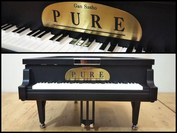 グランド ピアノ 楽器 型 アクセサリー ジュエリー ボックス 宝石箱 オルゴール 機能 箱 付き 未使用 保管品 アンティーク インテリア 飾り_画像4