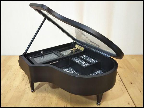 グランド ピアノ 楽器 型 アクセサリー ジュエリー ボックス 宝石箱 オルゴール 機能 箱 付き 未使用 保管品 アンティーク インテリア 飾り_画像6