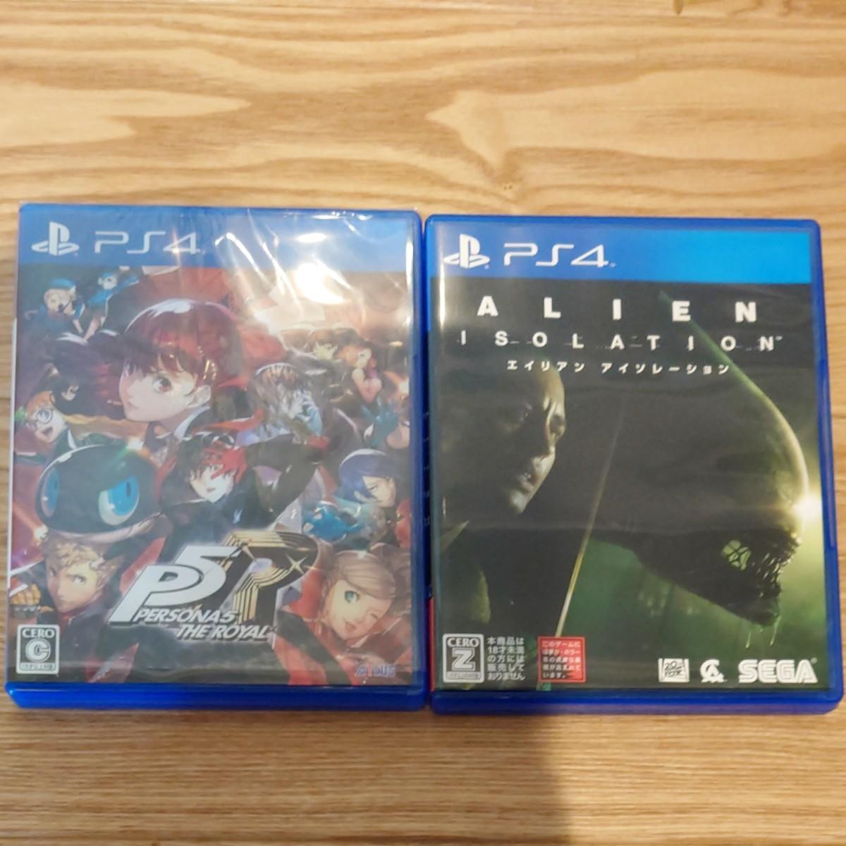 美品  PS4 ペルソナ5ザ・ロイヤル エイリアンアイソレーション セット