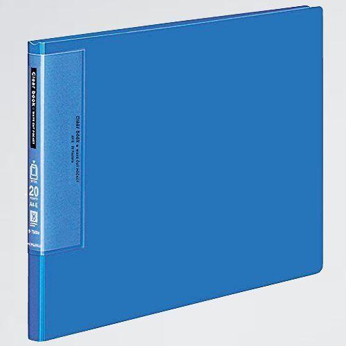 新品 好評 クリヤブック コクヨ X-ES 青 ラ-T565B ウェ-ブカット 固定式 A4横 20枚_画像1