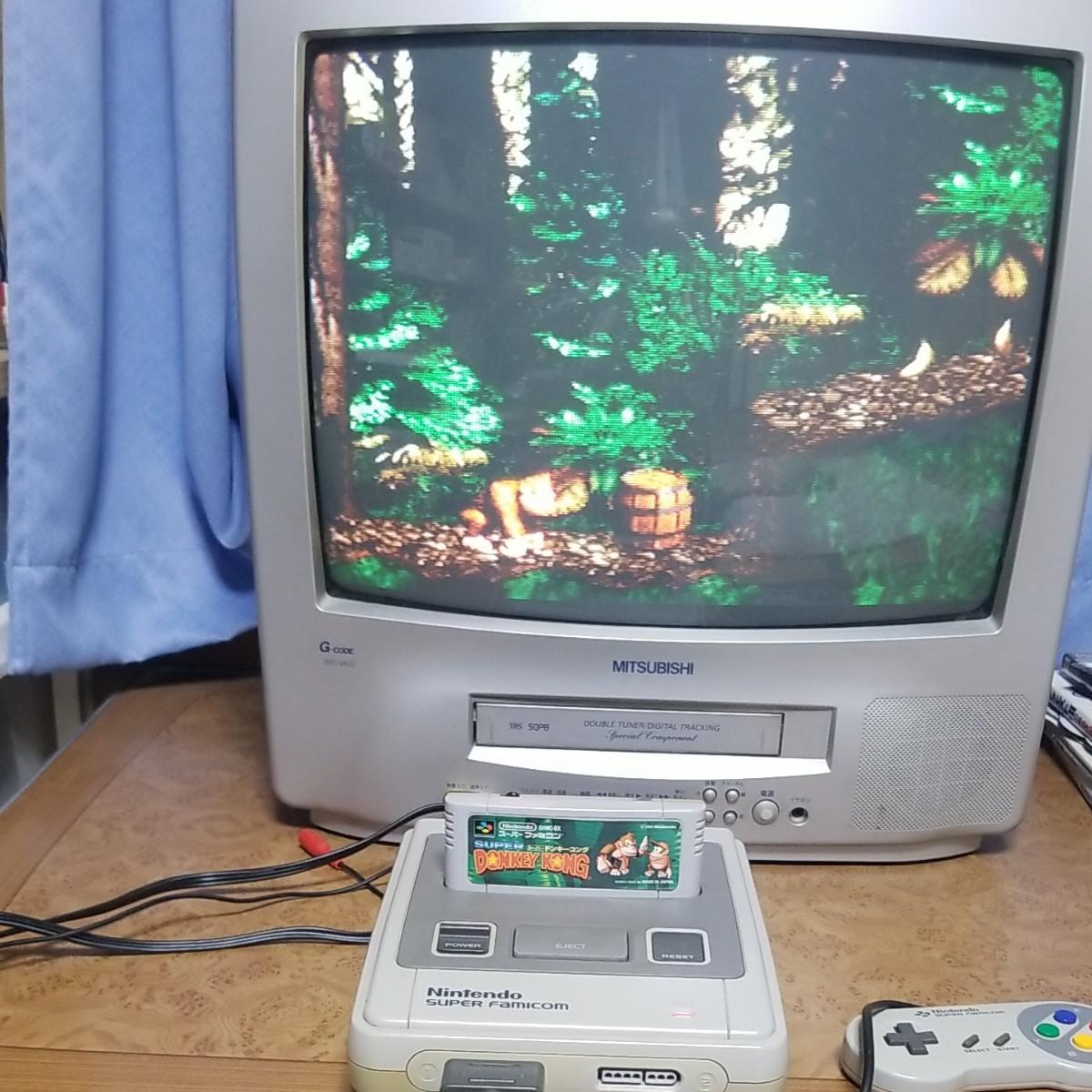 スーパーファミコン一式とマリオカート、ドンキーコング付送料込