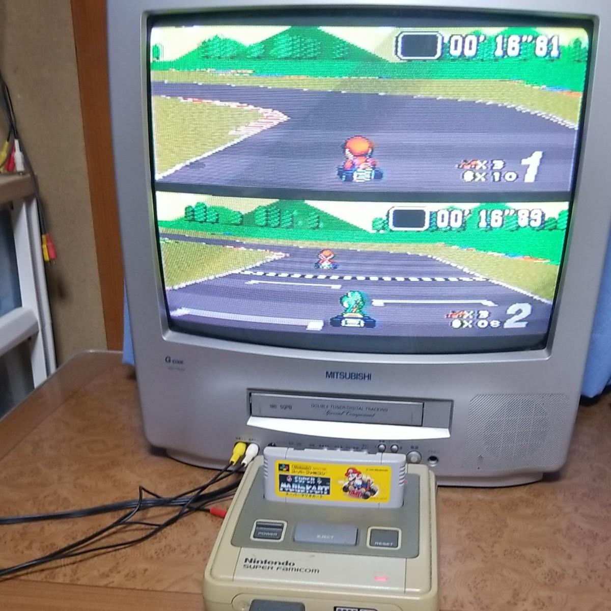 スーパーファミコン一式とマリオカートとドンキーコング付郵パック代込