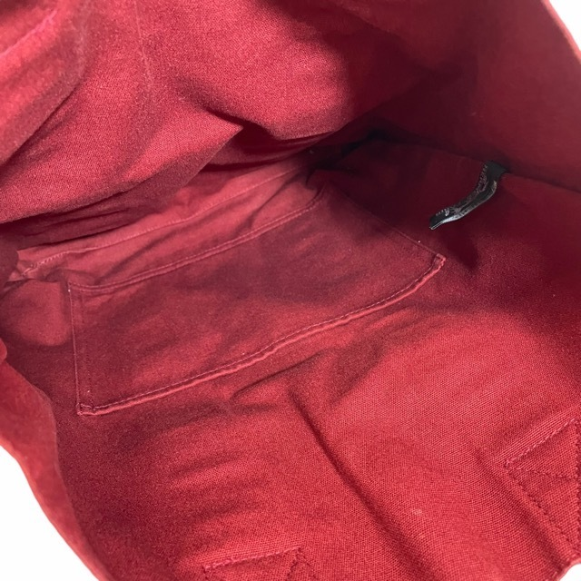 HERMES エルメス フールトゥ カバス トートバッグ ハンドバッグ 手提げ かばん キャンバス レッド_画像5