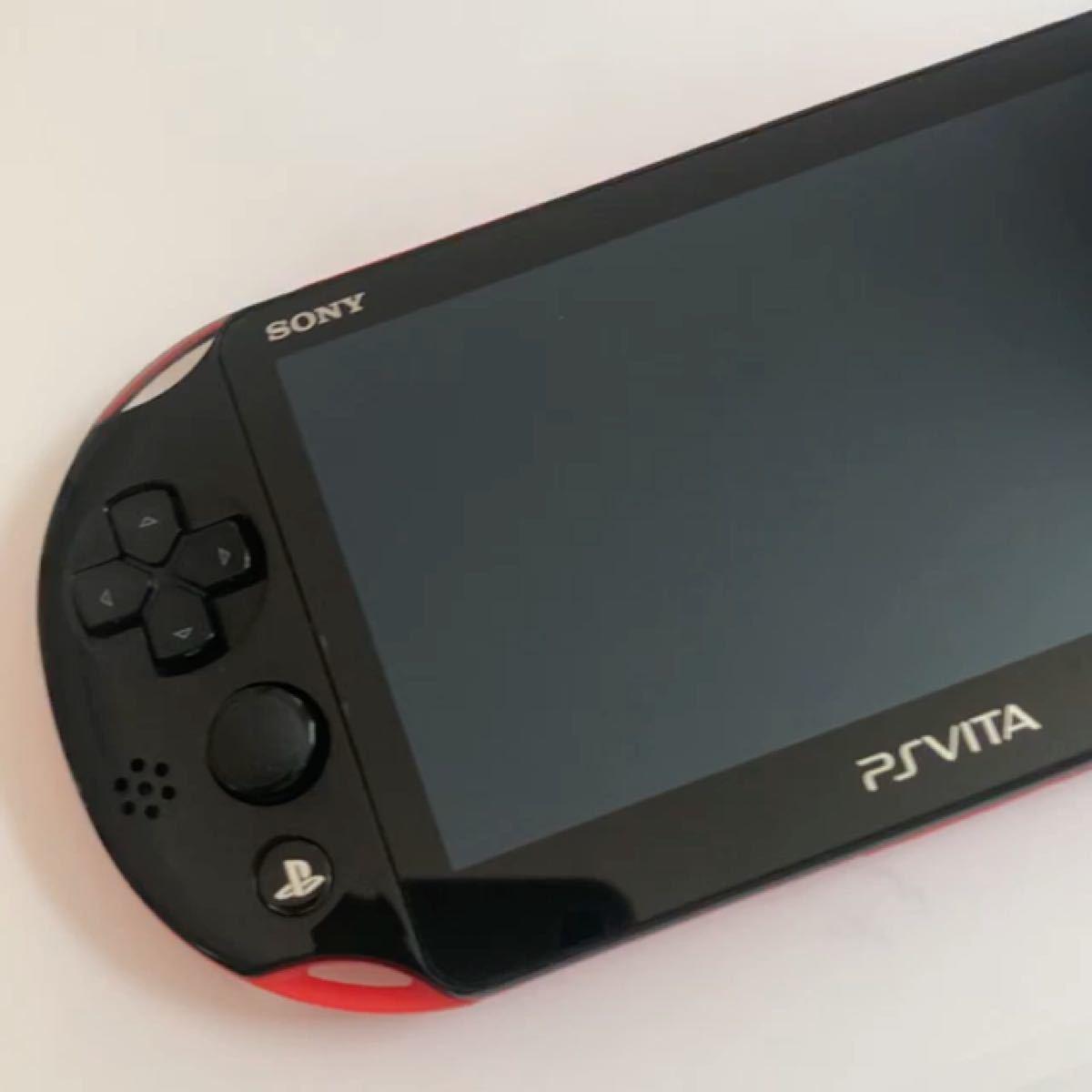 PSVITA PCH-2000 レッド/ブラック 本体 液晶画面保護フィルム貼付済