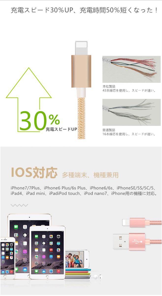 ライトニングケーブル 純正品質 iPhoneケーブル 充電コード 高速充電6本 Lightningケーブル 急速充電 充電器 耐久