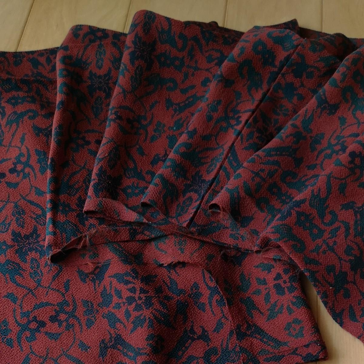 着物羽織りほどき 正絹 ちりめん  アンティーク 着物リメイク