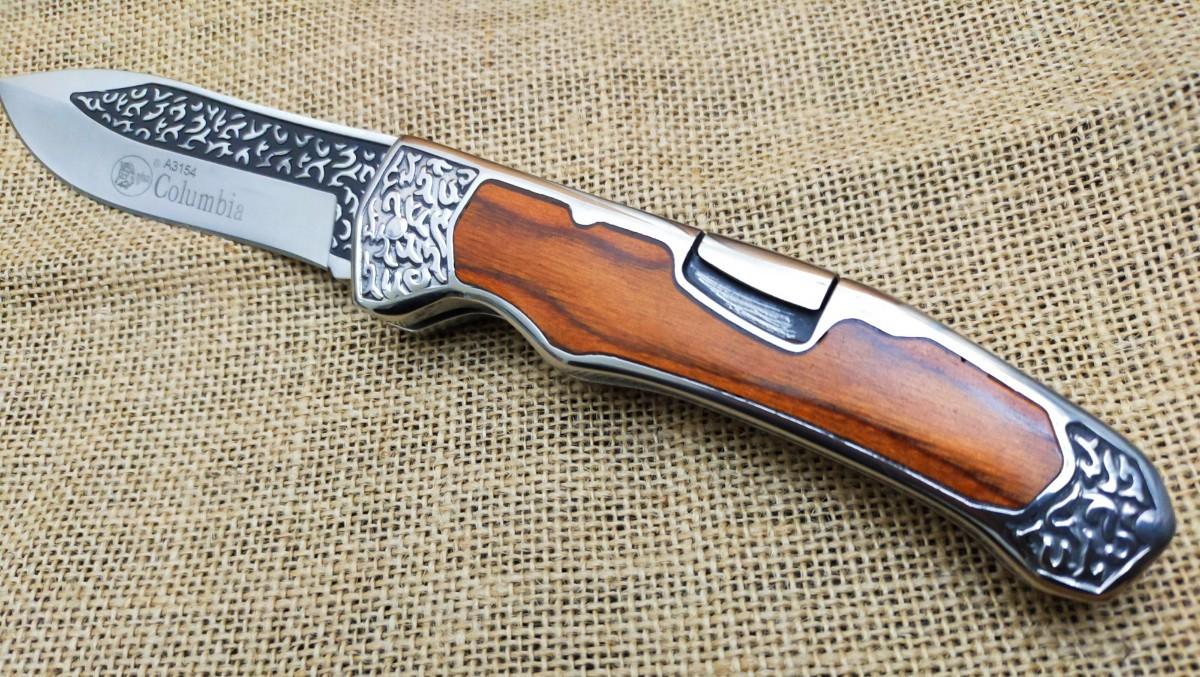 コロンビアナイフ COLUMBIA KNIFE フォールディングナイフ A3154 Black wood 折りたたみ式