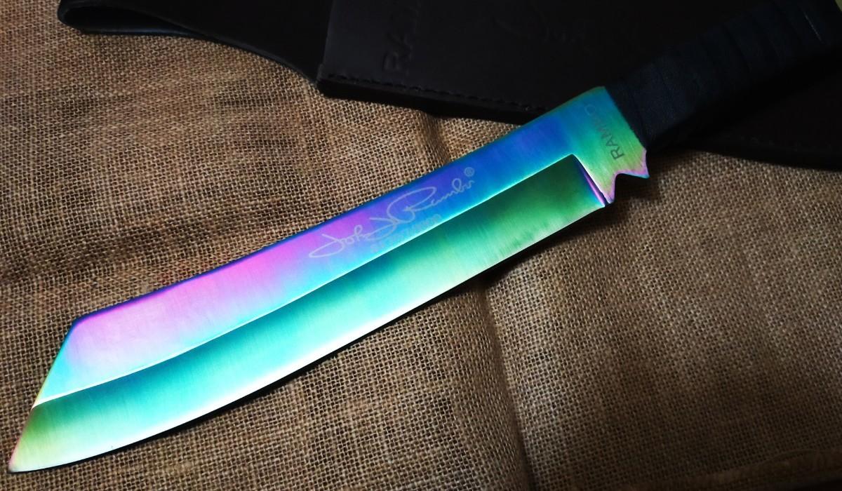 RAMBO4 ランボー4 サバイバルナイフ 極厚レインボーブレード RAMBO FIRST BLOOD  ハンティングナイフ