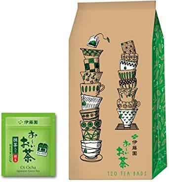 1) 120袋 伊藤園 エコティーバッグ おーいお茶 緑茶 (抹茶入り) 1.8g×120袋_画像1