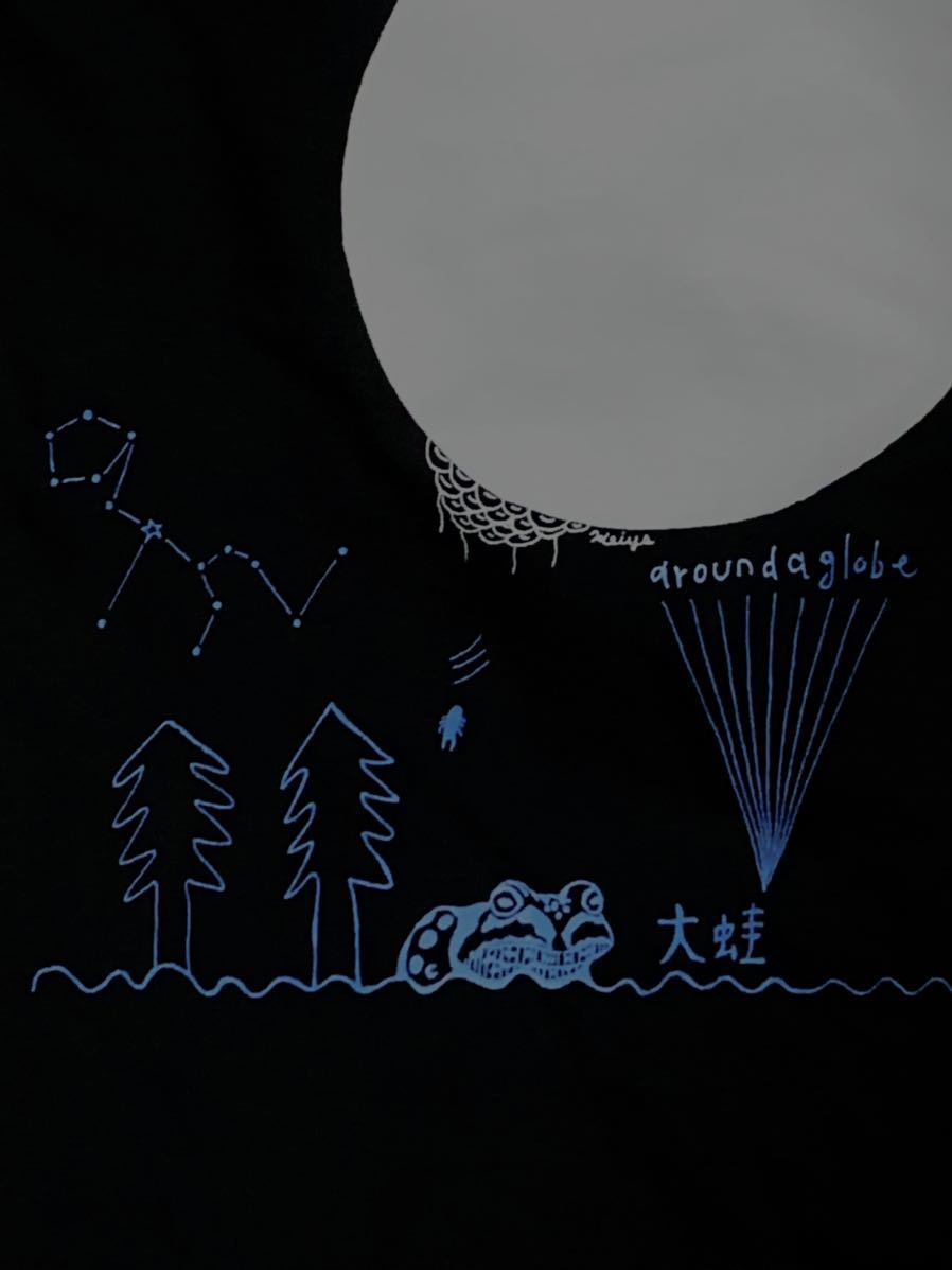 空飛ぶパキポディウム  Lサイズ 半袖Tシャツ aroundaglobe 鯨 クジラ whale コーデックス 植物 カエル グラキリス_画像4