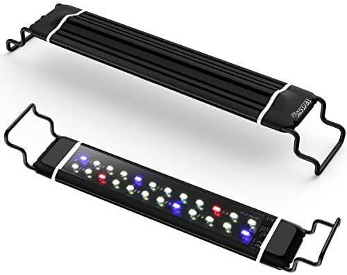 DADYPET 水槽ライト アクアリウムライト 30CM 45CM 60CM 水槽対応 三色白/赤/青LED 調節可能 防水仕様 水槽照明 観賞魚飼育・水草育成用_画像1