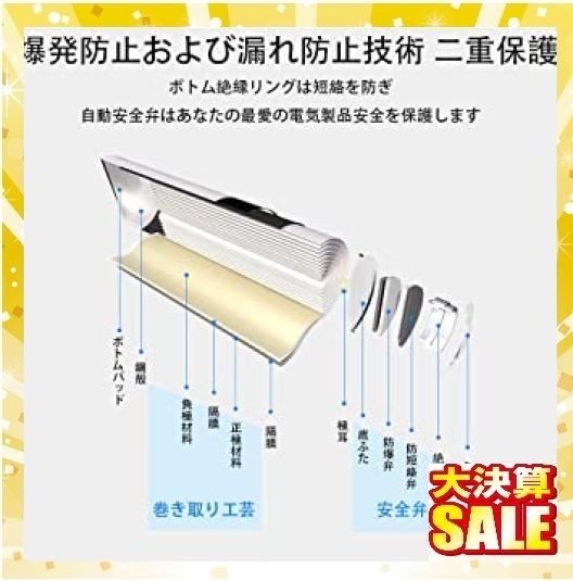 【残1】単3形4個パック 単3形充電池2800mAh Powerowl単3形充電式ニッケル水素電池4個パック 超大容量 PSE安_画像5