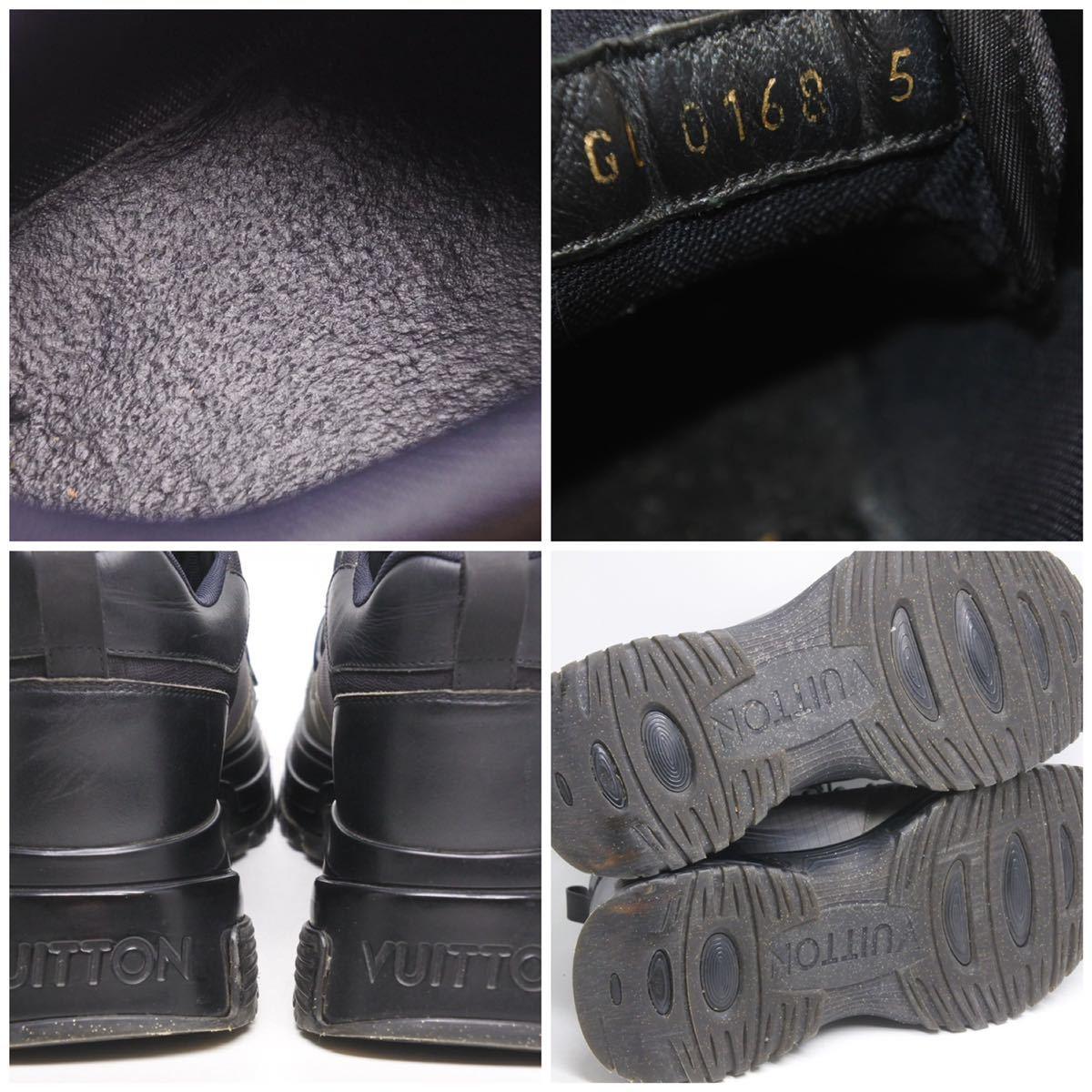 LOUIS VUITTON ルイヴィトン スニーカー シューズ 靴 ランアウェイパルスライン サイズ5 モノグラム ブラック 中古 32138 正規品_画像10