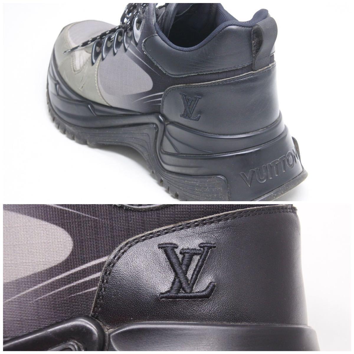 LOUIS VUITTON ルイヴィトン スニーカー シューズ 靴 ランアウェイパルスライン サイズ5 モノグラム ブラック 中古 32138 正規品_画像9