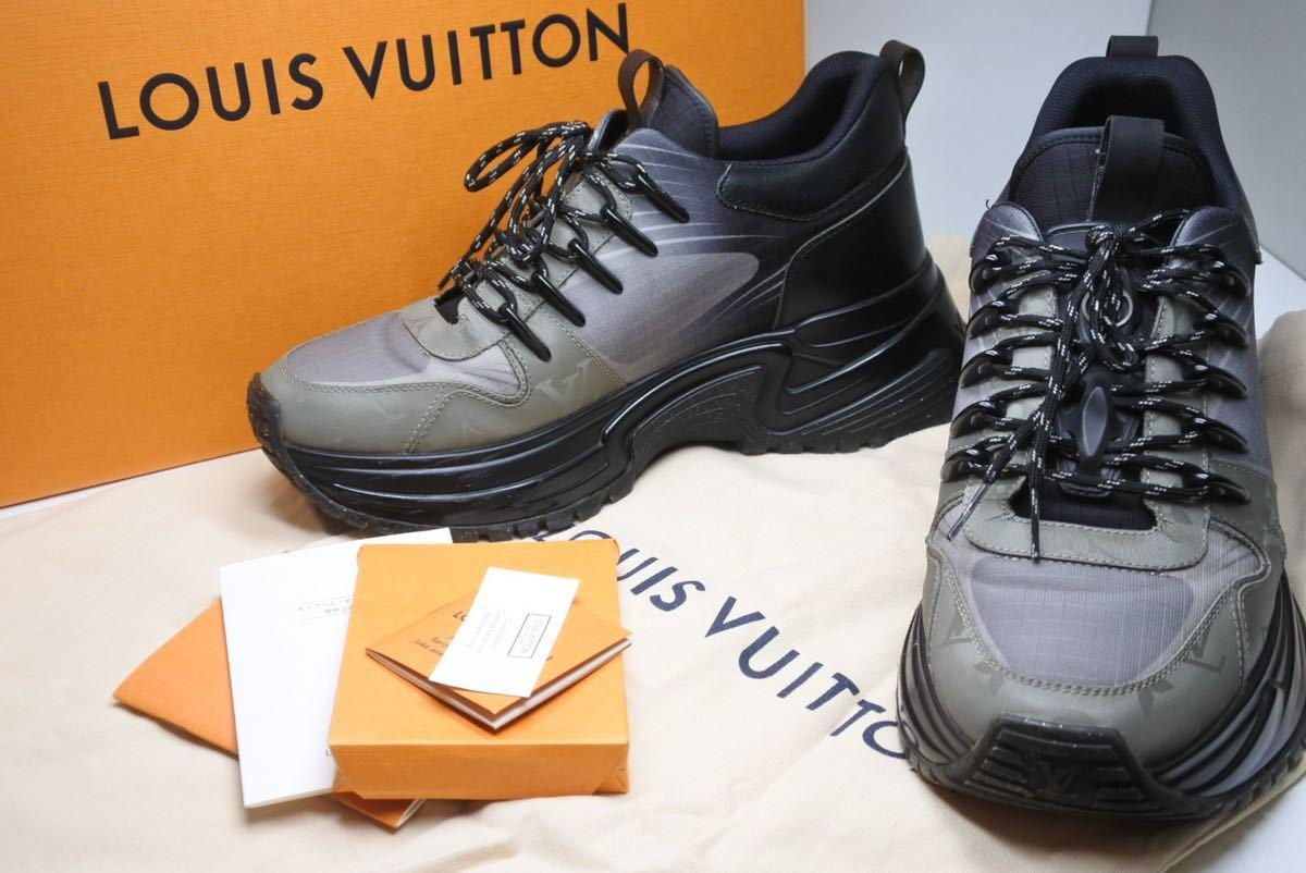 LOUIS VUITTON ルイヴィトン スニーカー シューズ 靴 ランアウェイパルスライン サイズ5 モノグラム ブラック 中古 32138 正規品_画像1