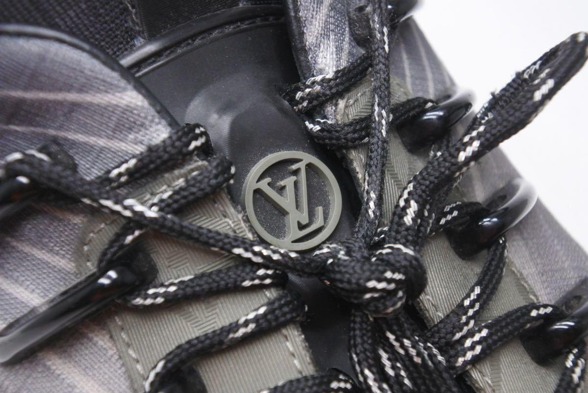 LOUIS VUITTON ルイヴィトン スニーカー シューズ 靴 ランアウェイパルスライン サイズ5 モノグラム ブラック 中古 32138 正規品_画像6
