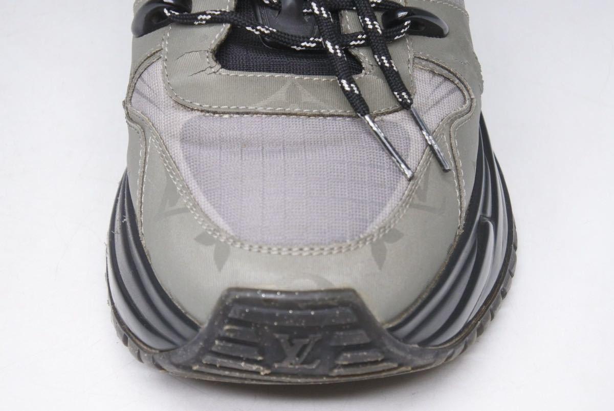 LOUIS VUITTON ルイヴィトン スニーカー シューズ 靴 ランアウェイパルスライン サイズ5 モノグラム ブラック 中古 32138 正規品_画像7