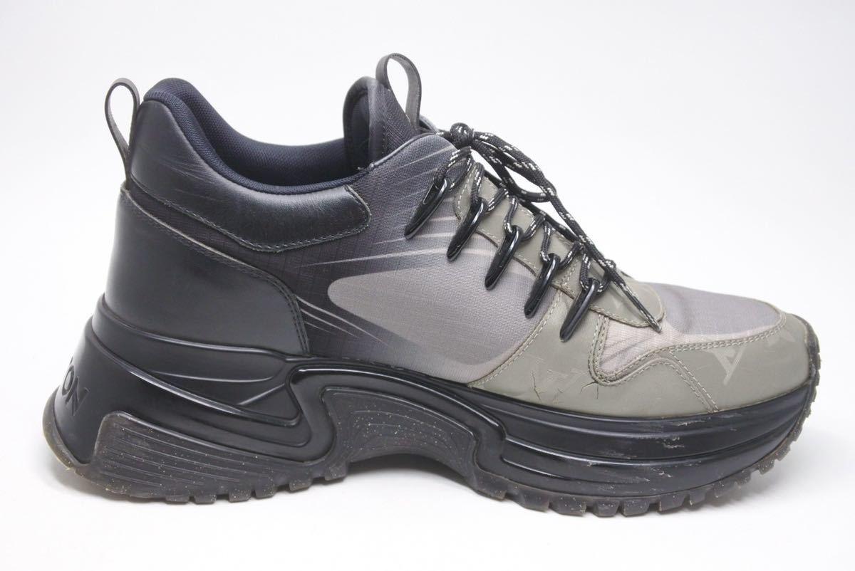 LOUIS VUITTON ルイヴィトン スニーカー シューズ 靴 ランアウェイパルスライン サイズ5 モノグラム ブラック 中古 32138 正規品_画像4